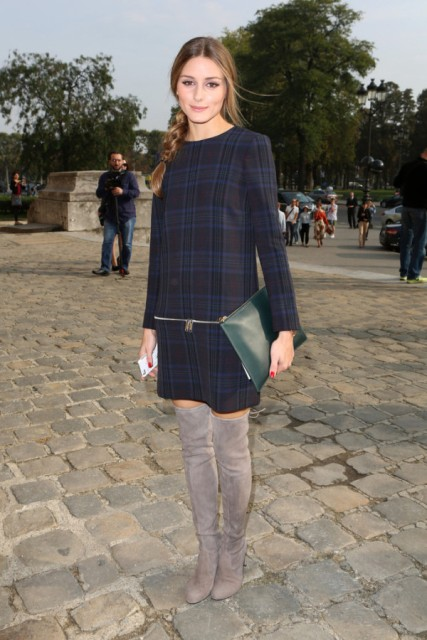 file2084191_olivia-palermo-carven-spring-2014-fashion-show-zara-checked-zip-dress-stuart-weitzman-highland-boots