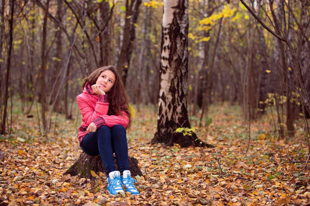 Идеи фото осенью в лесу