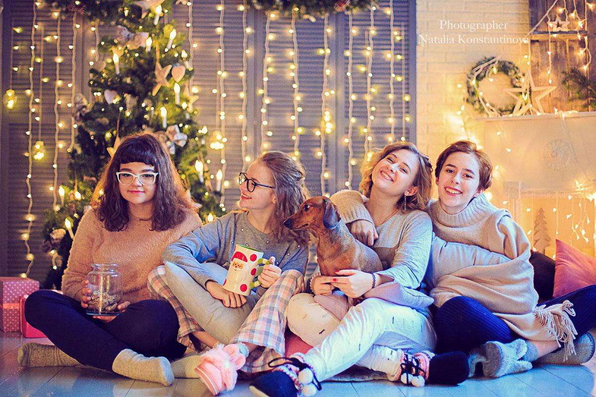 подруги на новый год картинки материал