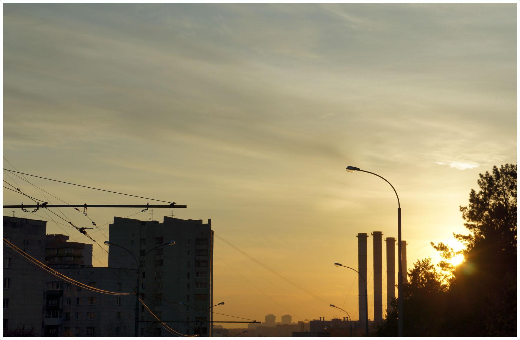 урбаничтический закат
