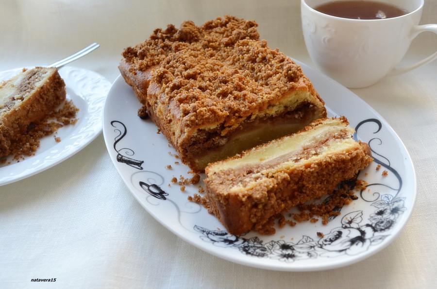 яблочный пирог с коричной посыпкой1