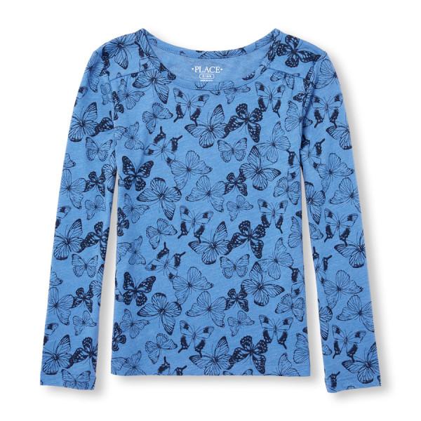 Girls Long Sleeve Printed Layering Top, $3.98, 230р..jpg
