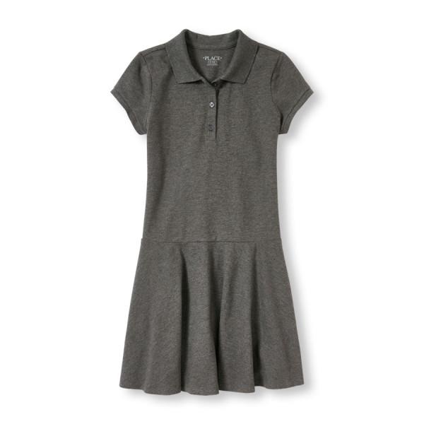 Girls Uniform Short Sleeve Pique Polo Dress $9,98 Was $19,95.jpg