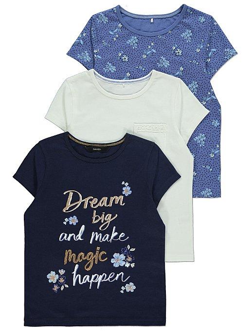 Navy Blue Floral T-Shirts 3 Pack.jpg
