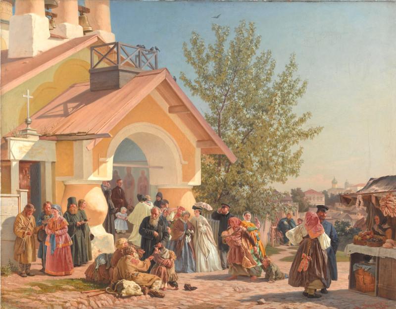 Морозов А.И. Выход из церкви в Пскове.jpg