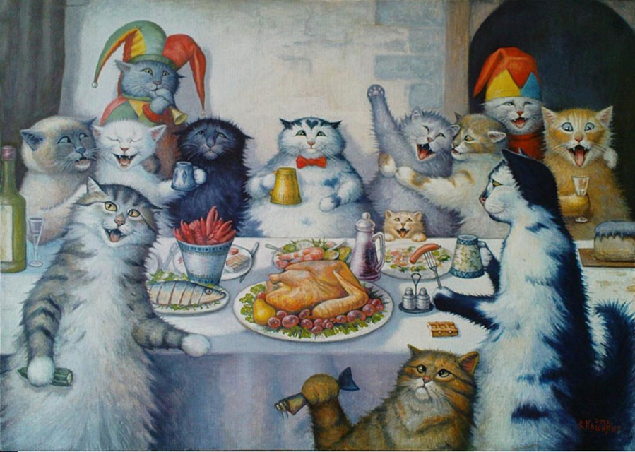 Кошачье застолье