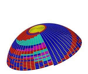 Спиралевидная кипа 2д-Model
