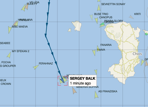 Image 4 AIS screenshot of 'Sergey Balk' 19 March 2021