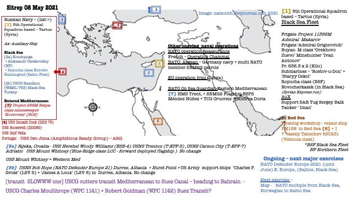 Naval sitrep 08 May 2021