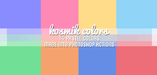 06 Kosmik Pastel Colors 14 Pastel Color Palette Ps Actions