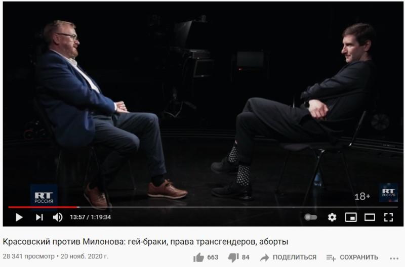 """Нетрудно догадаться, о чём """"спорят"""" эти два голубчика и какую позицию занимает Красовский"""