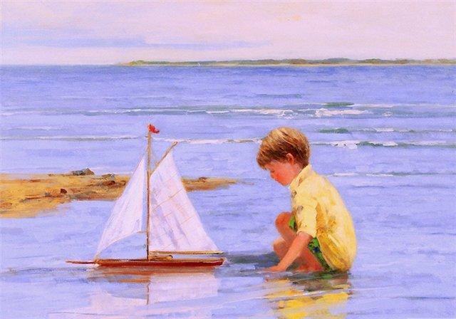 как плыть на лодке по волнам