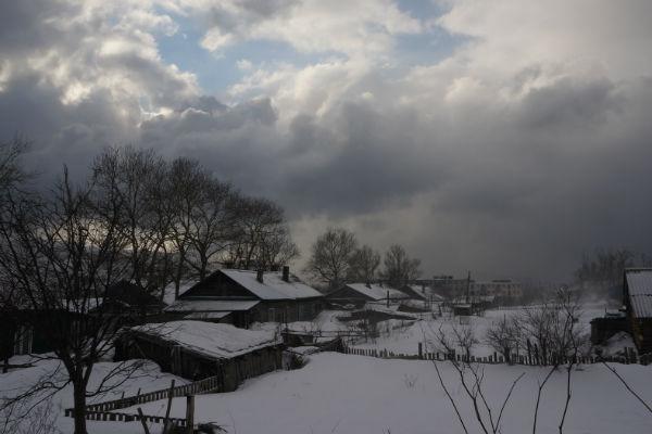 Село Правда. Март