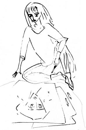 Рисунки Нади Рушевой. Автопортрет.jpg