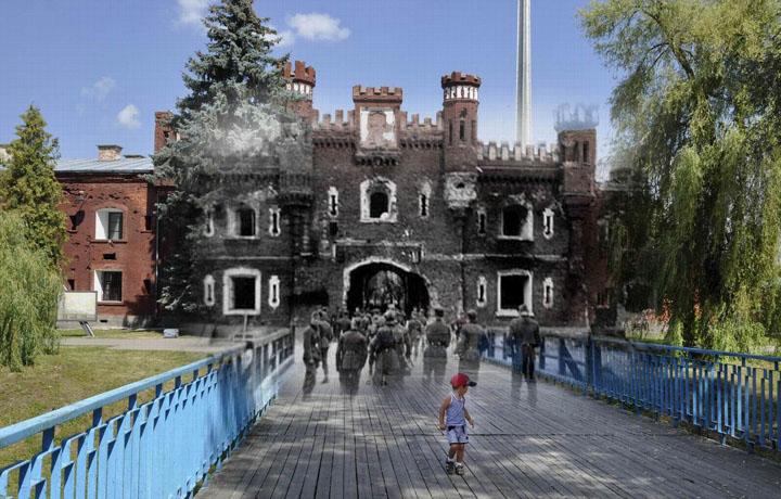 1941 - 2013. Гитлеровцы на Холмском мосту.jpg