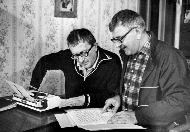 За работой. 24 сентября 1983 г., Москва..jpg