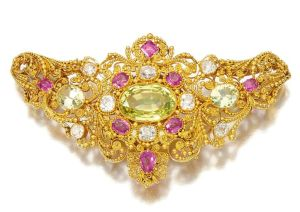 Lot-78-Gem-set-and-diamond-brooch-early-19th-century