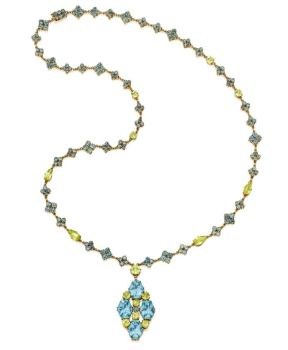 Lot-199-Gold-Aquamarine-and-Chrysoberyl-Necklace-Tiffany-Co.-Designed-by-Louis-Comfort-Tiffany-Circa-1915