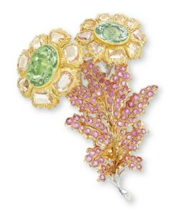 Lot-1623-A-CHRYSOBERYL-AND-PINK-SAPPHIRE-BROOCH-BY-BUCCELLATI