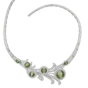 Lot-573-Platinum-Low-Karat-White-Gold-Cats-Eye-and-Diamond-Necklace