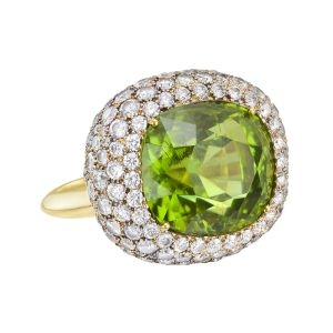 Estate-Betteridge-Collection-Cushion-Cut-Peridot-Pavé-Diamond-Bombé-Ring-Photo-courtesy-of-Betteridge