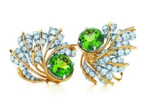 Jean-Schlumberger-Leaves-ear-clips-with-peridots-and-diamonds-in-platinum-and-18-kt.-gold-by-Jean-Schlumberger-for-Tiffany-Co.