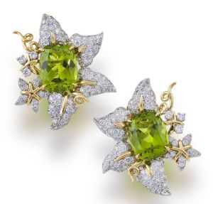 Lot-42-A-pair-of-peridot-and-diamond-earclips-Valentin-Magro1