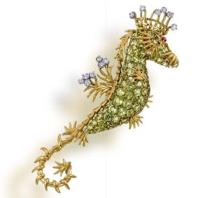 Lot-57-A-peridot-and-diamond-brooch-Jean-Schlumberger-for-Tiffany-Co.1