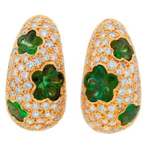 VAN-CLEEF-ARPELS-Peridot-Diamond-Yellow-Gold-Earrings-Nadine-Krakov-Collection