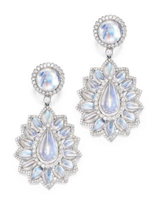 Lot-100-Pair-of-Platinum-Moonstone-and-Diamond-Pendant-Earrings