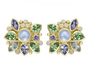 Temple-St.-Clair-18K-Anima-Cluster-Earrings-with-blue-moonstone-aquamarine-tanzanite-tsavorite-and-diamond