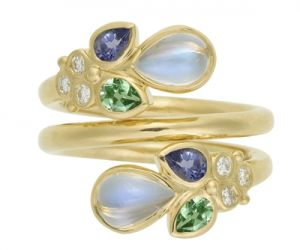 Temple-St.-Clair-18K-Anima-Mummy-Ring-with-royal-blue-moonstone-tanzanite-tsavorite-and-diamond-granulation