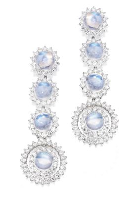 Lot-18-PAIR-OF-PLATINUM-MOONSTONE-AND-DIAMOND-EARRINGS-
