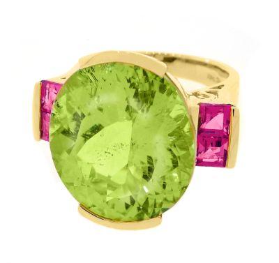 RG14KHSPOD633 Ring, 14K Yellow Gold, Green Apple Hiddenite Spodumene(2)