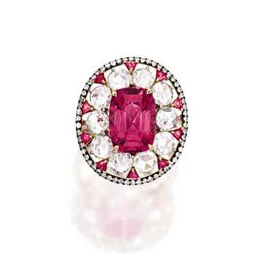 Lot-1725-PINK-SPINEL-AND-DIAMOND-RING-IVY