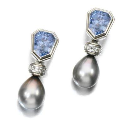 Lot-217-GEM-SET-AND-DIAMOND-EAR-CLIPS-HEMMERLE синт