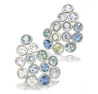A-Pair-of-Multi-colored-Sapphire-and-Platinum-Ear-Clips-by-Taffin