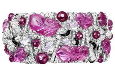 Cartier diamond, onyx and pink sapphire bracelet