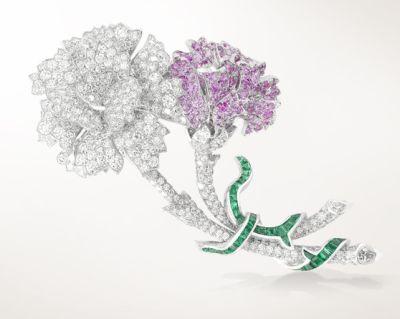 JH000854-Clip-Fleurs-Precieuses розов сапф