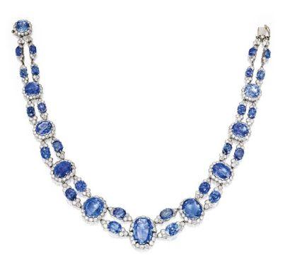 Lot-147-Platinum-and-Sapphire-Necklace-Van-Cleef-Arpels-France-Circa-1950