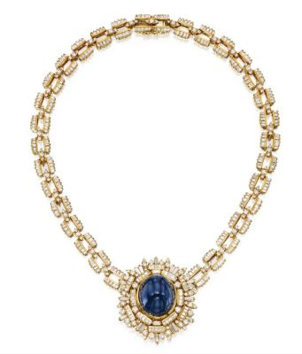 Lot-366-18-Karat-Gold-Sapphire-and-Diamond-Necklace