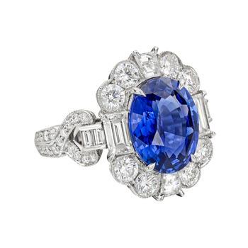 raymond-c-yard-4-carat-sapphire-diamond-cluster-ring