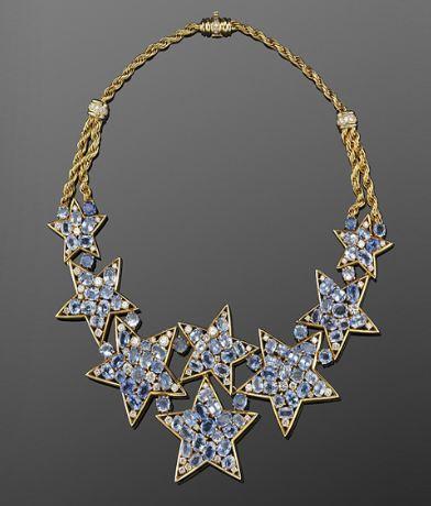Sapphire-and-Diamond-Star-Motif-Necklace-circa-1960s