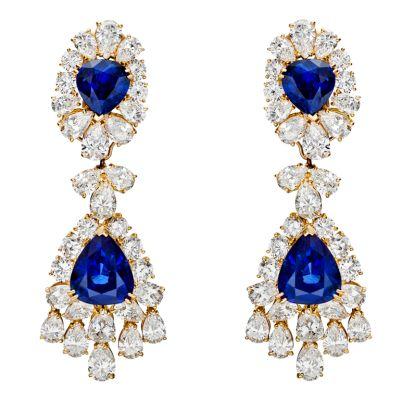 Van Cleef & Arpels – Sapphire & Diamond Chandelier Earrings