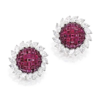 Lot-326-PAIR-OF-PLATINUM-INVISIBLY-SET-RUBY-AND-DIAMOND-EARCLIPS-ALETTO-BROTHERS-1200x1200