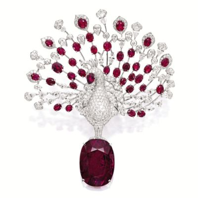 Lot-1924-UNIQUE-RUBY-AND-DIAMOND-PEACOCK-BROOCH-CARTIE-1200x1200