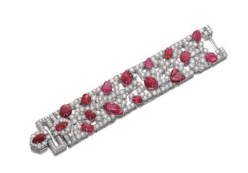 Lot-RUBY-AND-DIAMOND-BRACELET-1930S