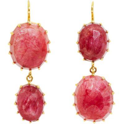 Renee-Lewis-Natural-Ruby-Two-Point-Earrings
