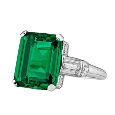 Important-Art-Deco-Columbian-Cushion-Cut-Natural-Emerald-Ring-Steven-Fox-Jewelry