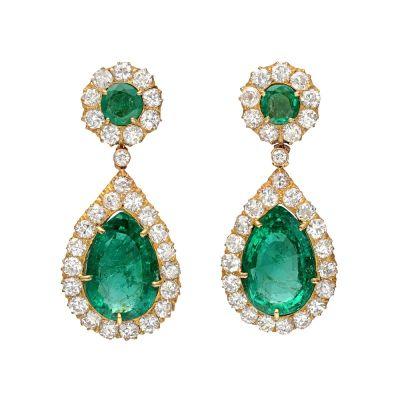 pear-shaped-emerald-diamond-drop-earrings-e1352484767224